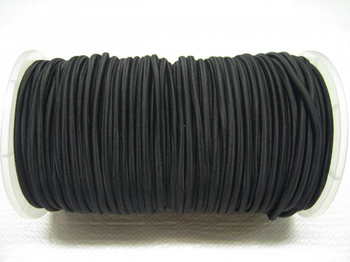 6MM x 100 Metre (328 Foot), Solid Black, Elastic Bungee Shock Cord Rope